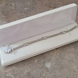 NWT Italian silver mesh bracelet